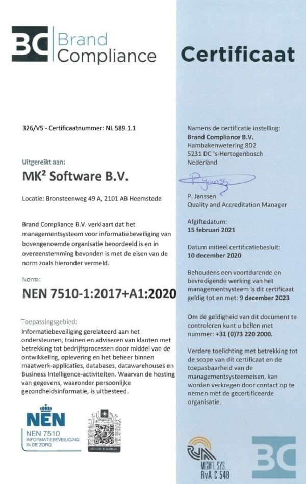 ISO 7510-1_2017 Certificaat MK² Software